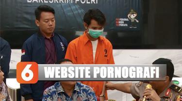 Motif pembuatan website dengan konten pornografi dilakukan tersangka untuk meraup banyak iklan.
