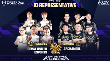 Archangel dan Dewa United Esports. Dok: Garena