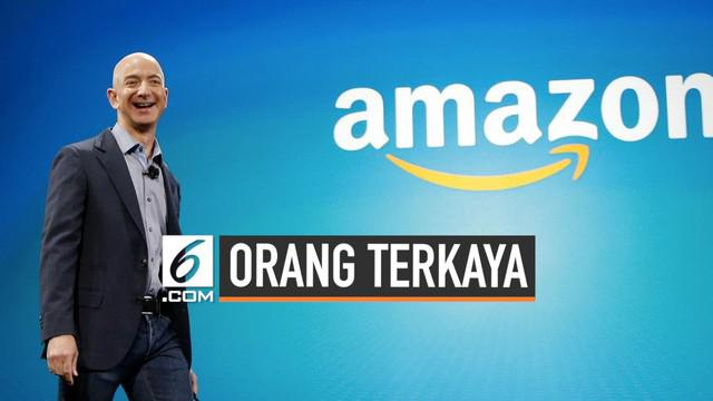 Pendiri Amazon.com Jeff Bezos tetap menjadi orang terkaya di dunia meskipun baru bercerai dan harus memberikan harta gono-gini kepada mantan istrinya Rp536 Triliun.