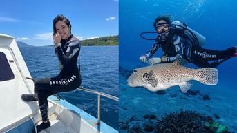 Hobi Baru, Ini 6 Potret Seru Gisella Anastasia saat Diving