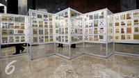 """Pameran """"Politik dalam Prangko"""" digelar 19-26 Agustus 2016 menampilkan sebanyak 960 lembar koleksi perangko dari tahun 1700-an yang merekam mengabadikan peristiwa politik pada zamannya, Jakarta, Kamis (19/8). (Liputan6.com/Johan Tallo)"""