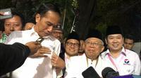 Pasanan Capres dan Cawapres Jokowi-Ma'ruf Amin mendapat nomor urut 1 di Pilpres 2019 (Liputan6.com/ Putu Merta Surya Putra)