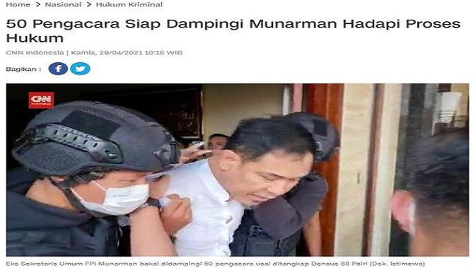 Gambar Tangkapan Layar Artikel dari Situs cnnindonesia.com