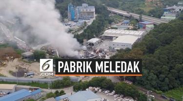 Sebuah pabrik kertas di Korea Selatan tiba-tiba meledak. Ledakan besar tersebut terekam kamera mobil yang sedang melintas.