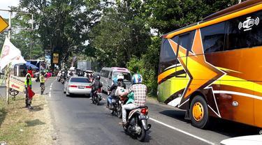 Jalur tengah Banyumas-Brebes di titik Ajibarang Kabupaten Banyumas, Jawa Tengah. (Foto: Liputan6.com/Muhamad Ridlo)