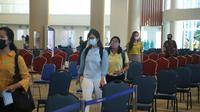 Simulasi kedatangan turis asing di Bandara Internasional I Gusti Ngurah Rai, Bali (dok: AP I)