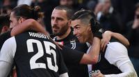 Cristiano Ronaldo menyumbang satu gol untuk Juventus saat kalahkan Cagliari (AFP)