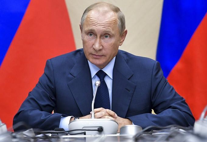 Presiden Rusia Vladimir Putin (Mikhail Klimentyev/Pool Photo via AP)