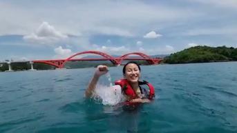 Heboh Putri Indonesia 2020 Renang di Bawah Jembatan Youtefa Papua