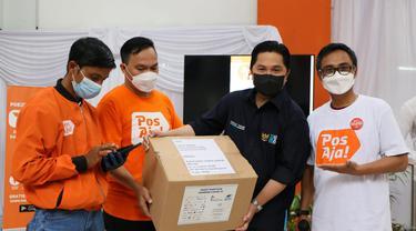 Kunjungan kerja Menteri BUMN RI, Erick Thohir ke Kantor Pos Bogor