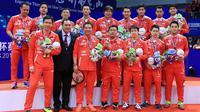 Tim Indonesia hanya menjadi runner up pada Piala Thomas 2016 setelah kalah dari Denmark pada partai final, Minggu (22/5/2016). (PBSI)
