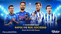 Live streaming Liga Europa Napoli vs Real Sociedad, Jumat (11/12/2020) pukul 00.55 WIB dapat disaksikan melalui platform Vidio. (Dok. Vidio)