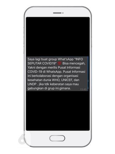 Hati-Hati Penipuan Grup WhatsApp Info Seputar Covid-19 Catut Nama WHO cs