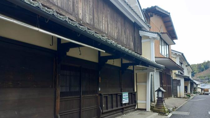 Rumah bergaya tradisional di Uchiko, Prefektur Ehime, Jepang. (Liputan6.com/ Mevi Linawati)