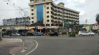 Penyekatan sempat dilakukan di kawasan Jalan Sisingamangaraja, Kota Medan, kini telah dibuka kembali