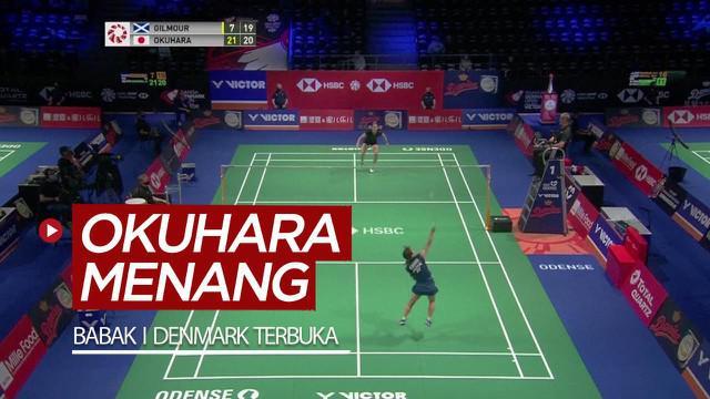 Berita video highlights kemenangan Nozomi Okuhara pada babak pertama Denmark Terbuka 2020, Rabu (14/10/2020).