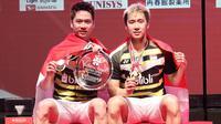 Kevin Sanjaya/Marcus Gideon, Japan Open 2018. (PBSI)