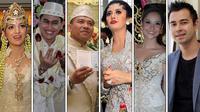 Beberapa artis kita yang tercatat menggelar pesta pernikahan mahal dan mewah