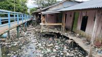 Salah satu kawasan kumuh di Kota Palembang (Liputan6.com / Nefri Inge)