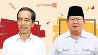 Banner Kala Jokowi & Prabowo Keceplosan (Liputan6.com/Triyasni)