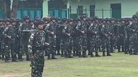 Pasukan TNI ke Kabupaten Nduga, dalam rangka pengamanan infrastruktur. (Liputan6.com/Kodam Cenderawasih/Katharina Janur)