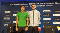Konferensi pers UEA Vs Timnas Indonesia di Dubai, Rabu (9/10/2019). (PSSI)
