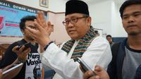 Menkominfo Rudiantara ditemui usai menghadiri deklarasi Asosiasi Media Siber Indonesia (AMSI) di Gedung Dewan Pers, Jakarta, Selasa (18/4/2017). (Liputan6.com/Agustin Setyo Wardani)