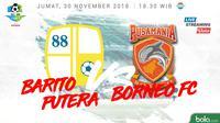 Liga 1 2018 Barito Putera Vs Pusamania Borneo FC (Bola.com/Adreanus Titus)