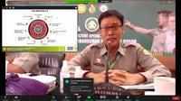 Kepala Badan Penyuluhan dan Pengembangan SDM Pertanian (BPPSDMP) Kementan, Dedi Nursyamsi saat memberikan kuliah umum secara daring, Kamis (19/11/2020). (Ist)