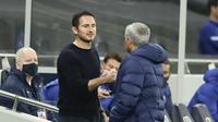 Lampard dan Mourinho terlibat dalam pertengkaran sengit saat pertandingan ((Matt Dunham/Pool via AP)