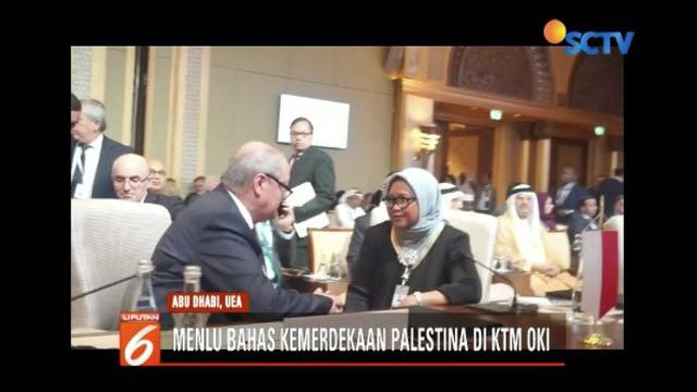 Hadiri Organisasi Konferensi Islam (OKI) di Abu Dhabi, Menlu Retno Marsudi menyatakan terus berjuang dukung kemerdekaan Palestina.