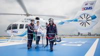 Evakuasi  medis menggunakan ambulans udara. (Foto: Bangkok Dusit Medical Service (BDMS) )