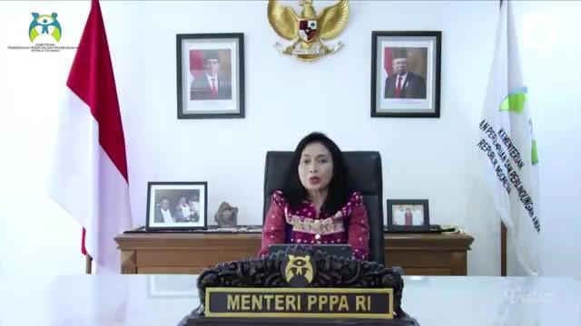 Menteri Pemberdayaan Perempuan dan Perlindungan Anak I Gusti Ayu Bintang Darmawati, S.E, M.Si, mengisi acara pembukaan pada Anugerah Perempuan Hebat Indonesia 2021 secara virtual oleh liputan6.com tentang Perempuan Ditengah Pandemi.