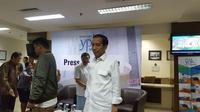 Presiden Jokowi saat mendampingi proses lahiran Kahiyang Ayu di Rumah Sakit YPK Menteng Jakarta Pusat.