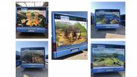 Bus iklan wisata Indonesia di Munchen, Jerman. (KBRI Berlin)