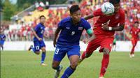 Timnas Thailand U-22 vs Timnas Myanmar U-22 di semifinal SEA Games 2017, Sabtu (26/8/2017). (Bola.com/Masoc)