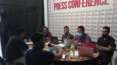 Lembaga ACC Sulawesi merilis tren korupsi dana desa selama tahun 2020 di Sulsel (Liputan6.com/ Eka Hakim)