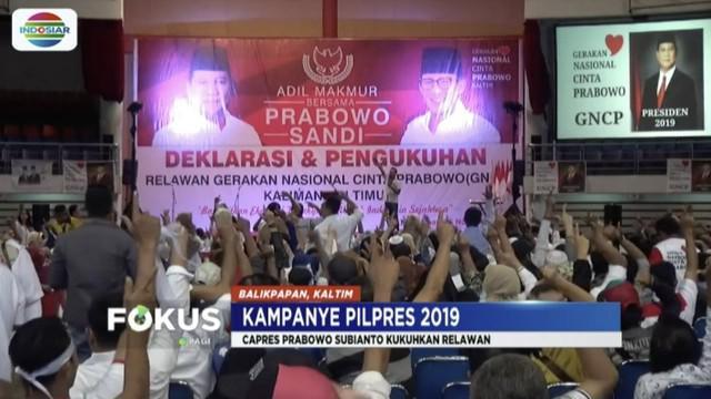 Jika terpilih jadi presiden, Prabowo Subianto menyatakan Indonesia timur akan bangkit.