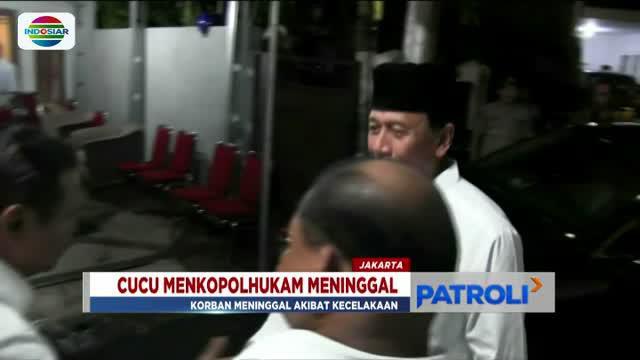 Kepada wartawan, Wiranto mengaku mendengar berita duka kematian Ahmad Daniyal Alfatih, cucunya dari media.
