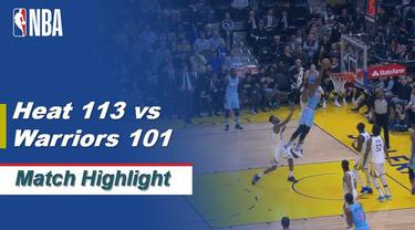 Berita Video Highlights NBA 2019-2020, Miami Heat Vs Golden State Warriors 113-101