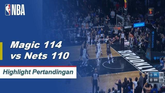 Nets selamat dari ujian Sihir dengan kemenangan 114-110. D'Angelo Russell melakukan double-double dengan 25 poin dan 10 assist sementara Spencer Dinwiddie menambahkan 29 poin dari bangku cadangan untuk Brooklyn dalam kemenangan.