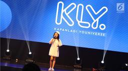 Penampilan Clarice Cutie saat bernyanyi dalam acara XYZ Day 2018 di Jakarta, Rabu (25/4). PT Liputan Enam Dot Com dan PT KapanLagi Dot Com Networks, bersatu menjadi KapanLagi Youniverse (KLY). (Liputan6.com/Immanuel Antonius)