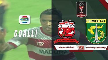 Berita video gol apik yang dicetak Beto Goncalves saat Madura United kalah dari Persebaya 2-3 di Semifinal Piala Presiden 2019.