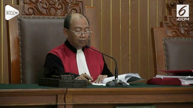 Permohonan praperadilan Gubernur non-aktif Aceh, Irwandi Yusuf ditolak Majelis Hakim.
