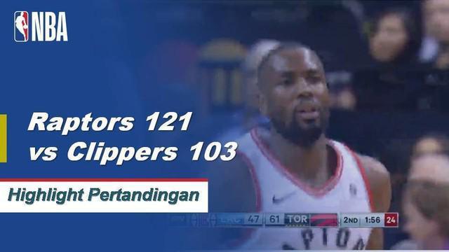 Kawhi Leonard meraih 18 poin dan 5 rebound saat Raptors melaju melewati Clippers, 121-103.