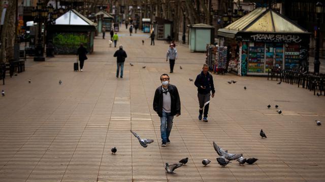 Suasana Kota Barcelona Setelah Spanyol Berlakukan Lockdown