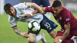 Tapi statistik menunjukkan bahwa La Pulga merupakan pemain spesialis semifinal. (AFP/Pedro Ugarte)