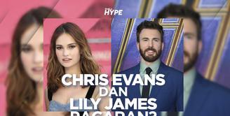 Chris Evans dan Lily James Terciduk Habiskan Malam Bersama