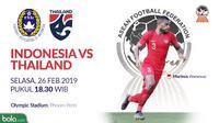 Final Piala AFF U-22 2019, Indonesia vs Thailand. (Bola.com/Dody Iryawan)