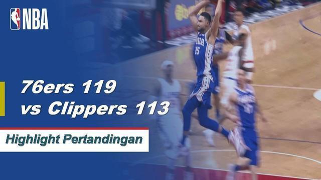 Joel Embiid memimpin Sixers dengan 28 poin dan 19 rebound saat mereka mengalahkan Clippers, 119-113.